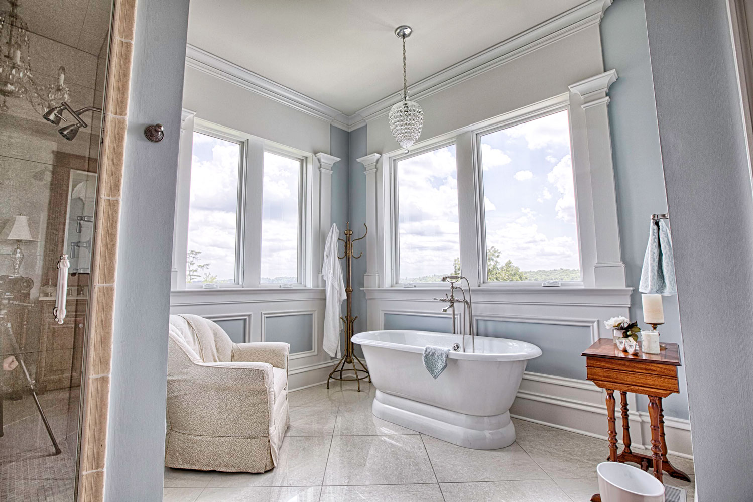 When remodeling a bath, talk to our design experts about a properly sized exhaust fan for bathroom ventilation.