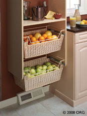 Built-In Basket Drawers