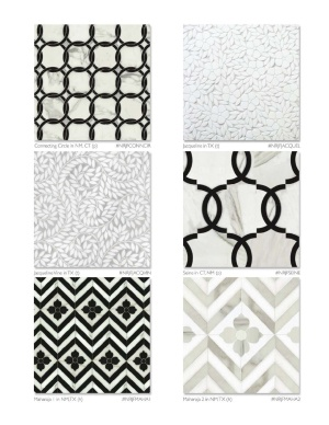 These marble mosaic tiles from stadium NYC are stunning. We have a lot of patterns here, but I'm loving it!