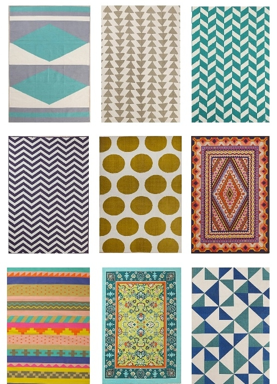 Another great way to add some flavor to your home without breaking the bank is trying out some fun printed rugs. These can be removed later and serve a valid purpose for the time being- besides just being visually stimulating. Look at all of the eos!