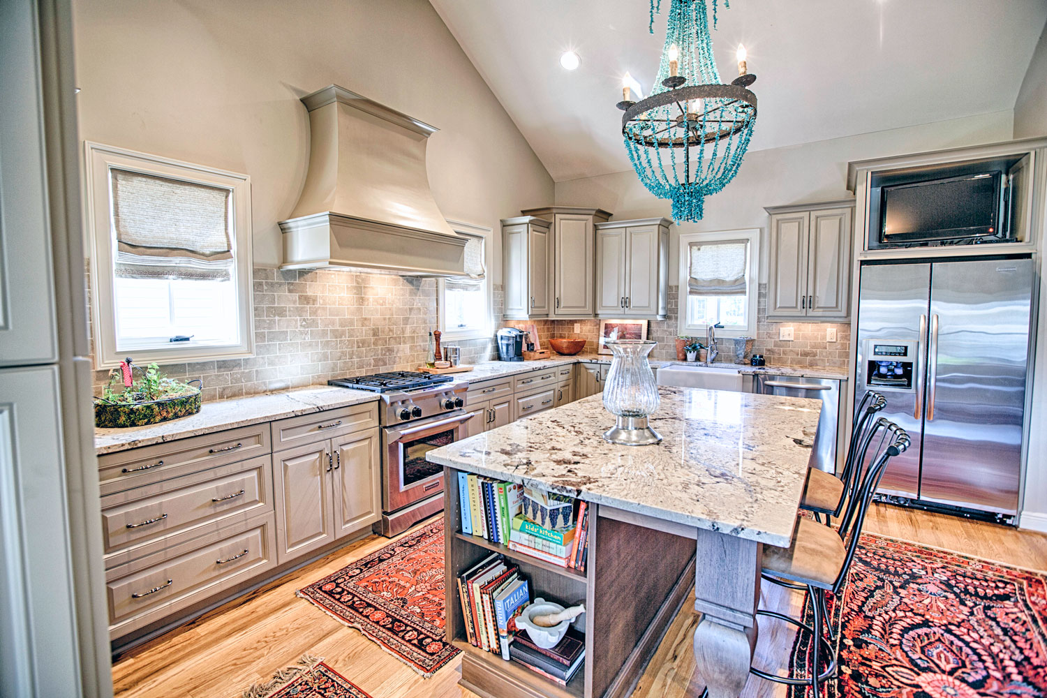 This new kitchen construction was for a single family home in the exclusive master planned community, The Townes of North River in Tuscaloosa Alabama.