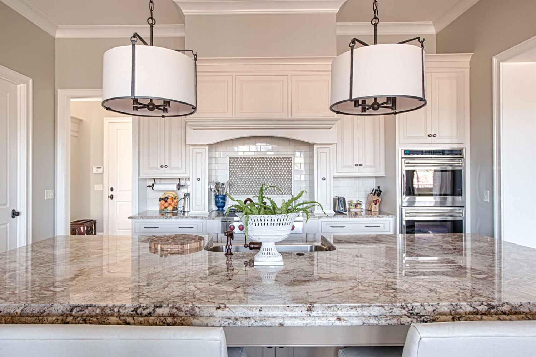 The countertops are a six centimeter Bordeaux granite.