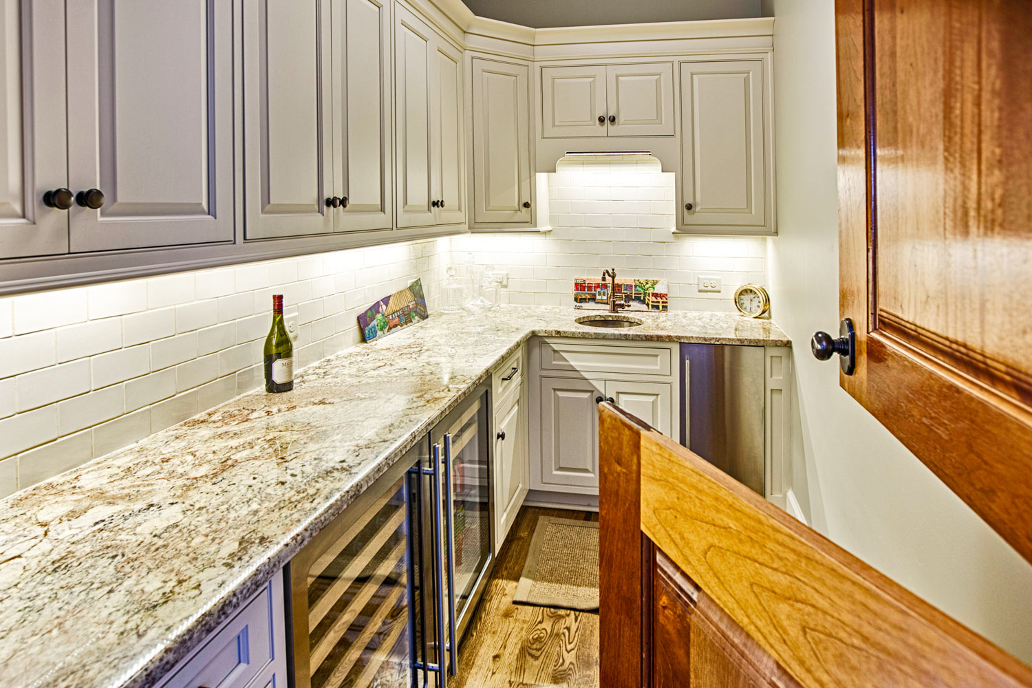 A pantry space designed for bartending during functions and entertaining