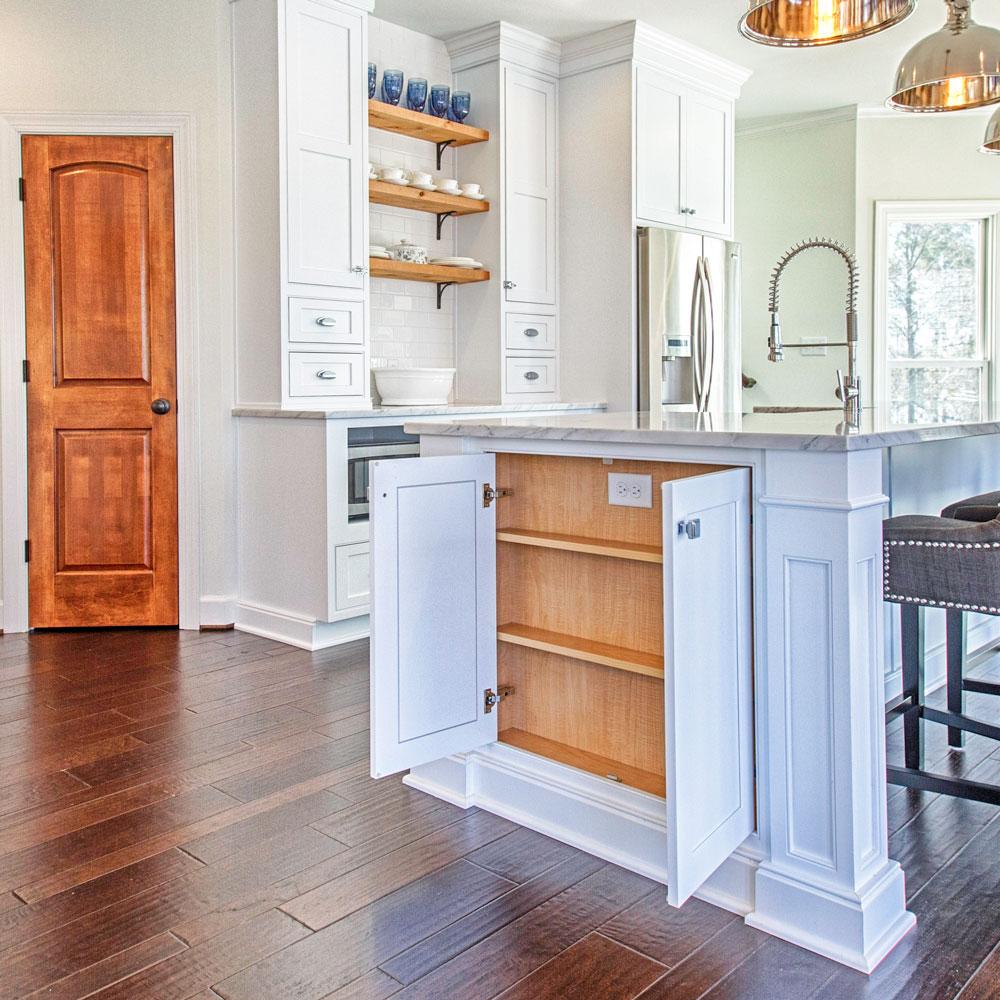 Kitchen island storage cabinet.