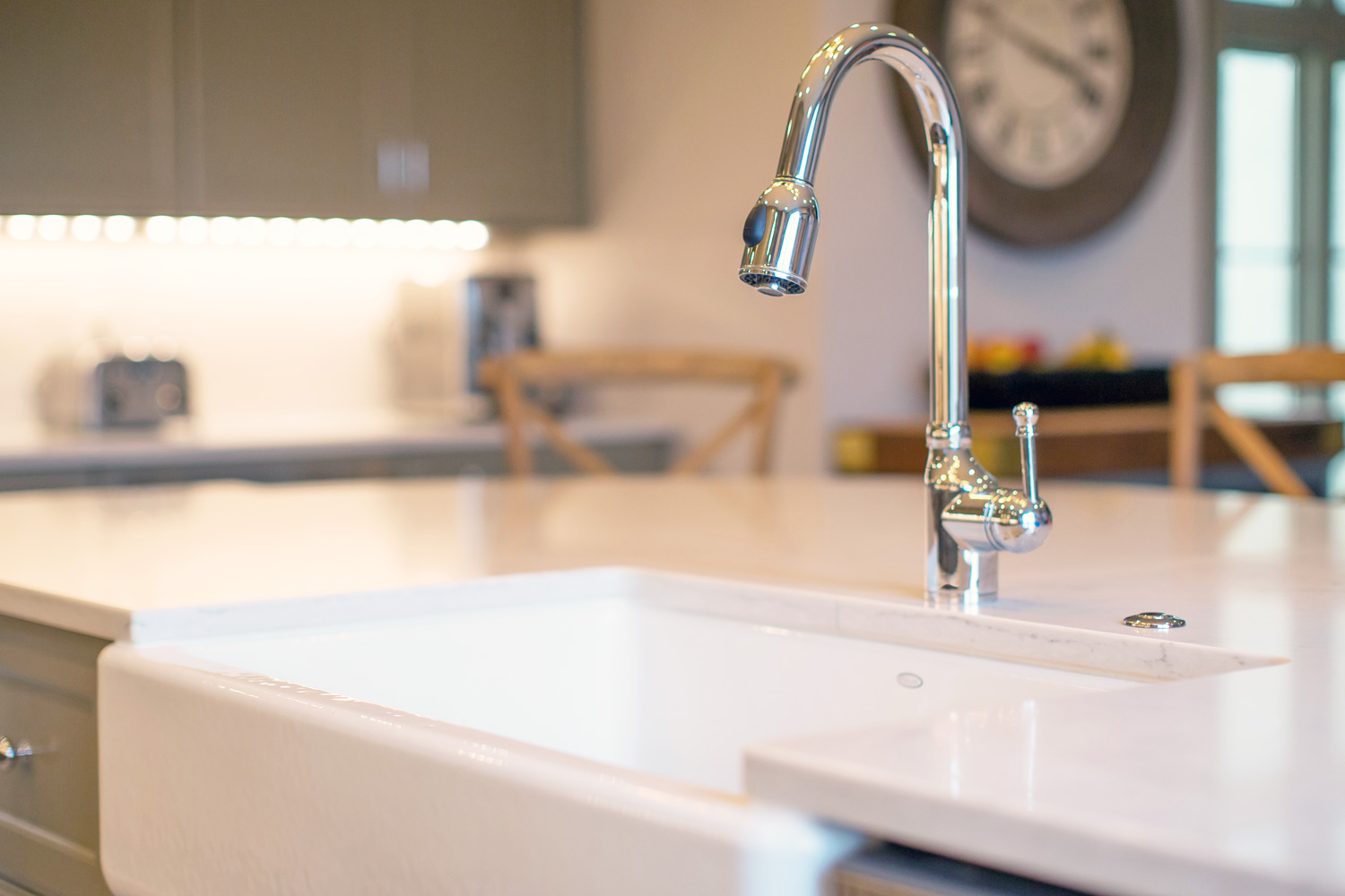 Farmhouse sink and Danze Faucets