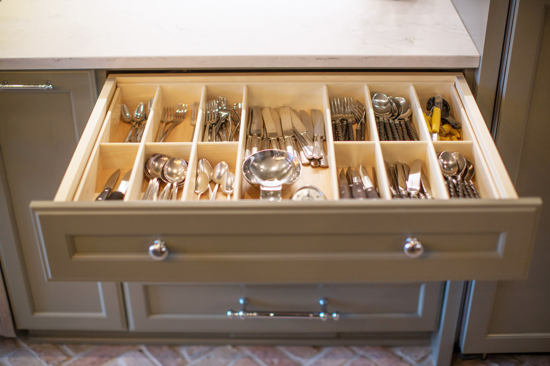 Silverware drawer inserts