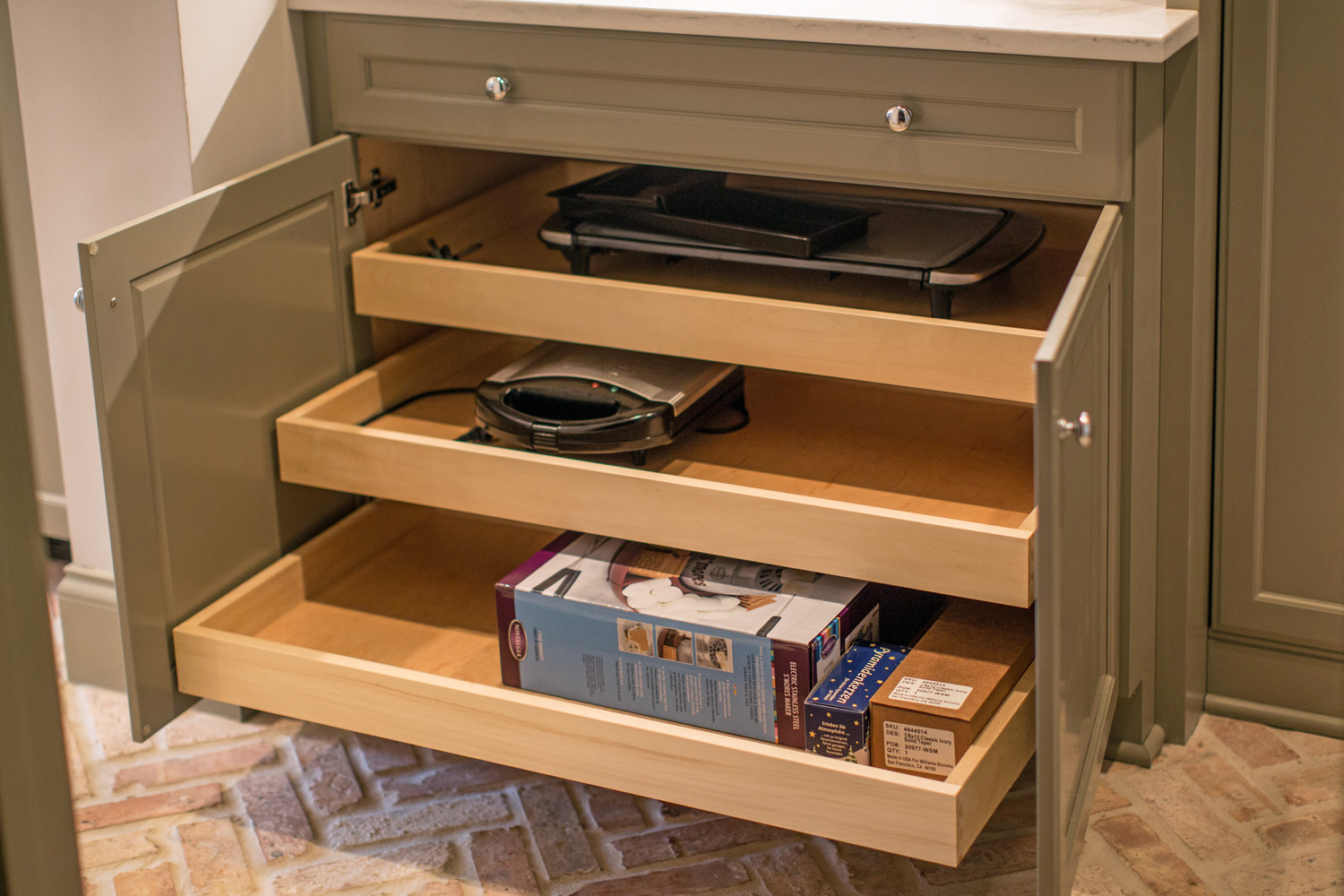 Cabinet Pull Out Appliance Storage