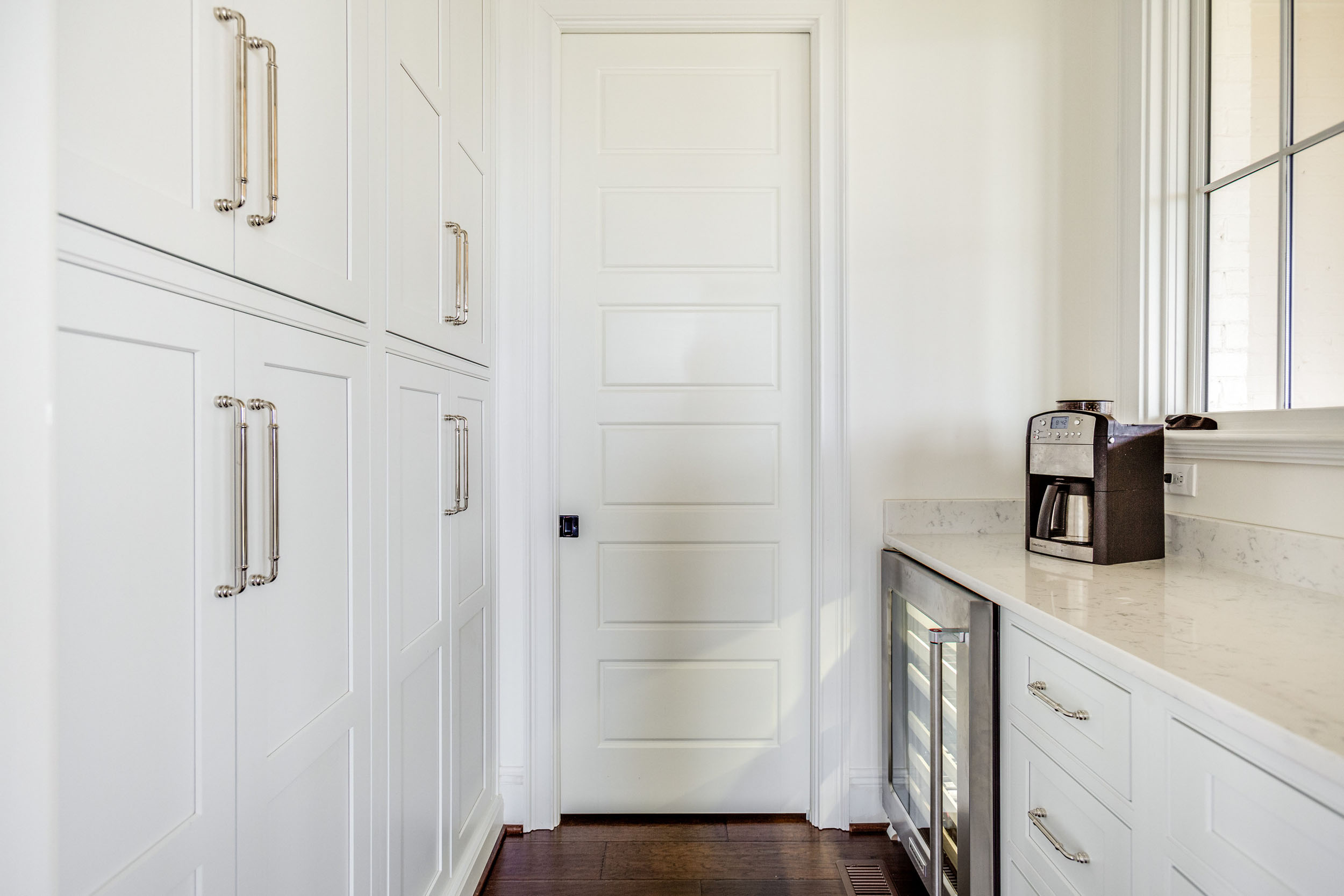 Floor to ceiling Cabinets in the Pantry