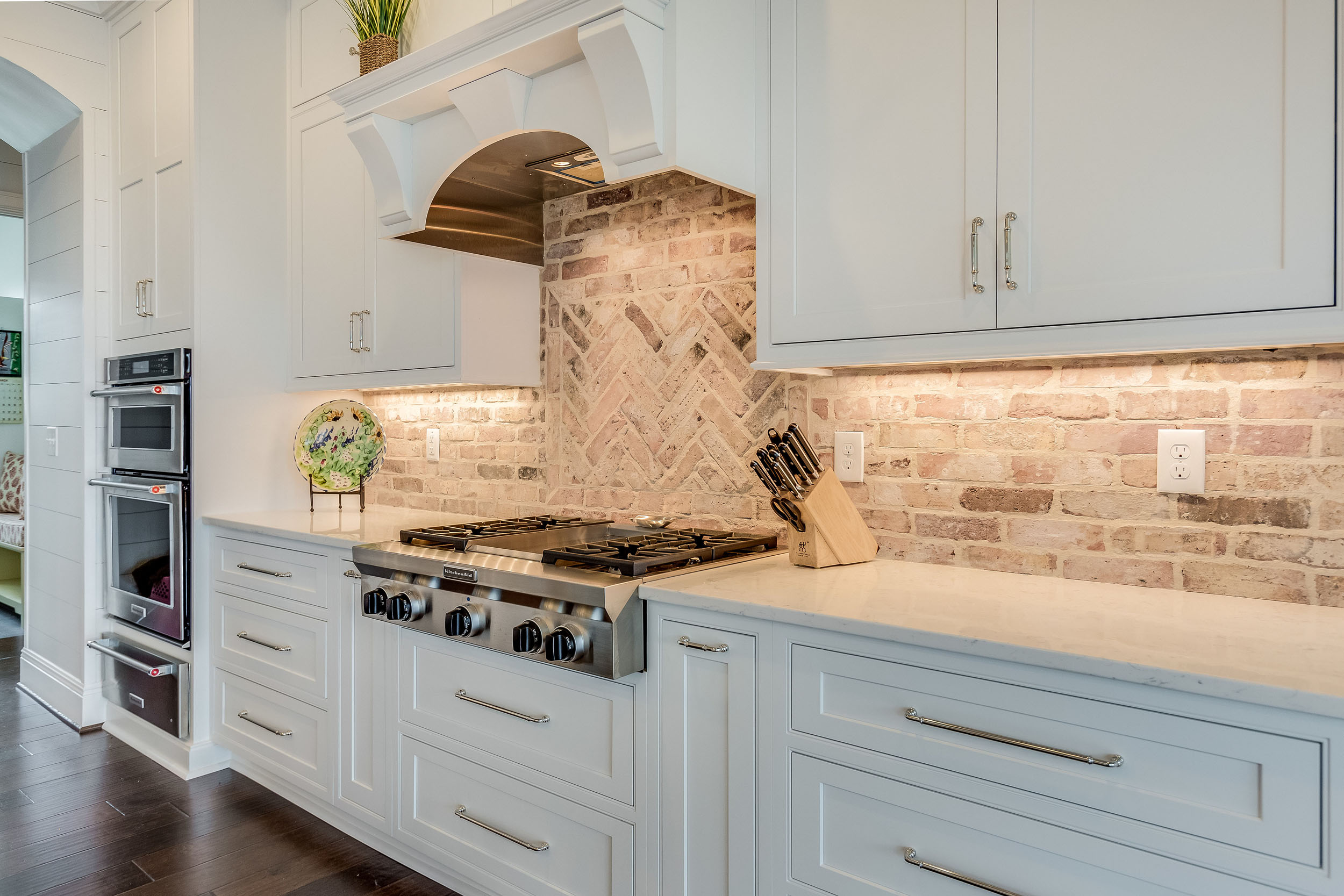 All appliances in this kitchen design are by Kitchenaid