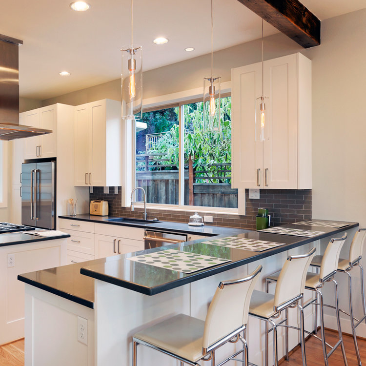 When It Comes To Countertop Design Raised Bars Are A Thing Of The Past Toulmin Cabinetry Design