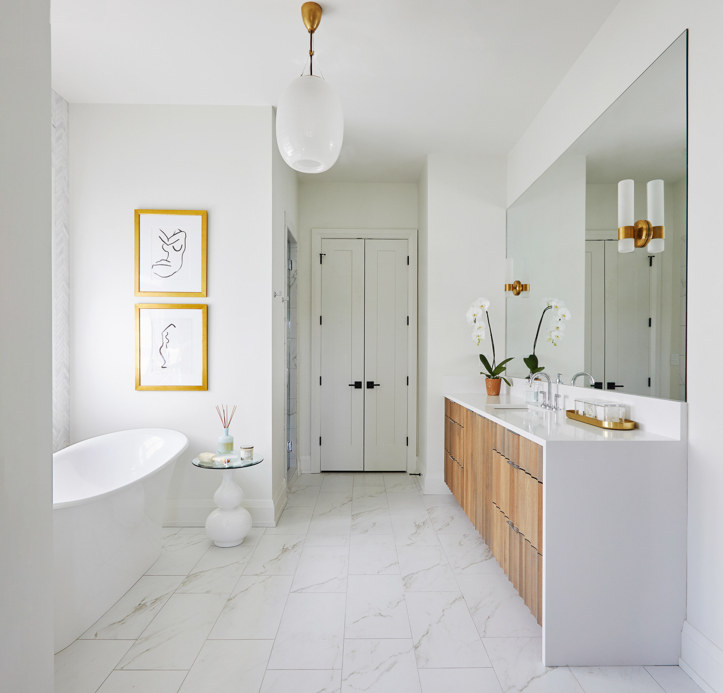 Sleek High Contrast Contemporary Bathroom Toulmin Kitchen Bath