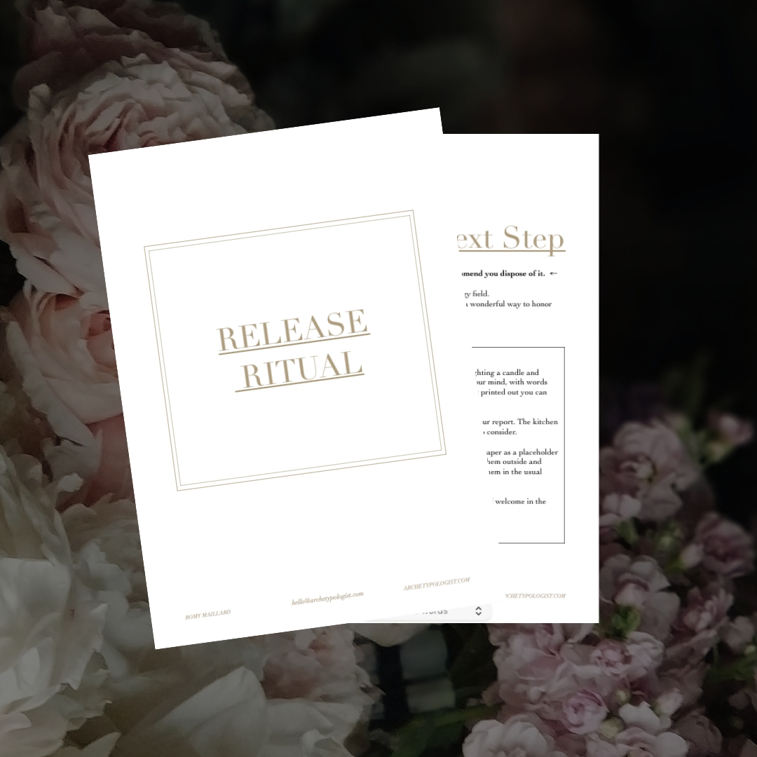 Release Ritual - Includes detailed instructions to safely release the Report.