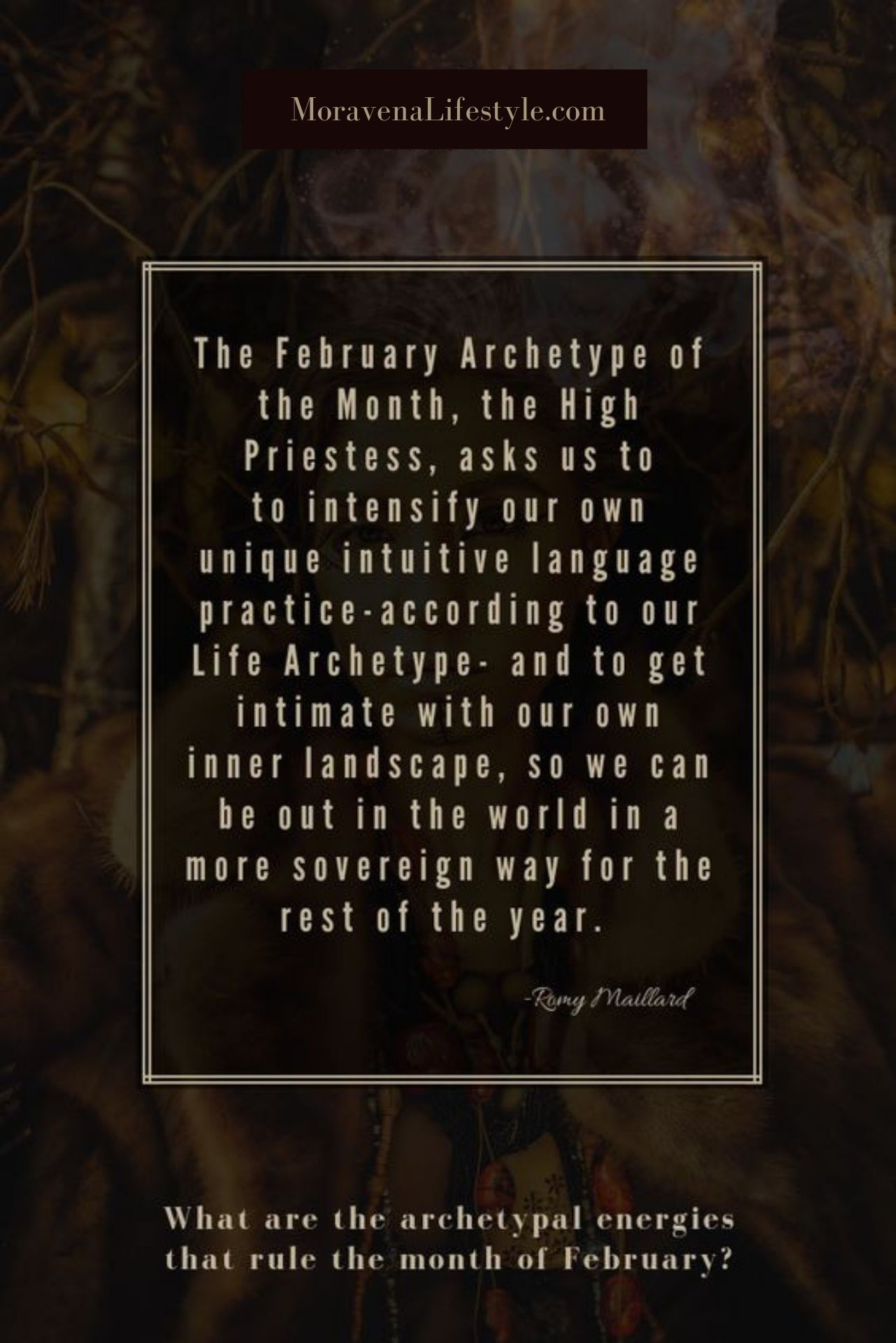 The Archetype of February asks us to apply intuitive observation - …followed by sustainable action.