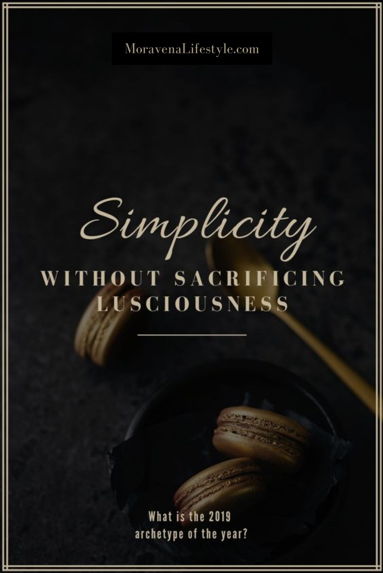 Finding my way back to simplicity without sacrificing lusciousness. -