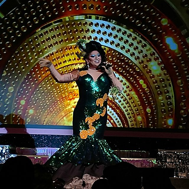 Tantrums and tiaras show last night #racadesigns #drag #greendragdress #gowns #tantrumesandTiaras