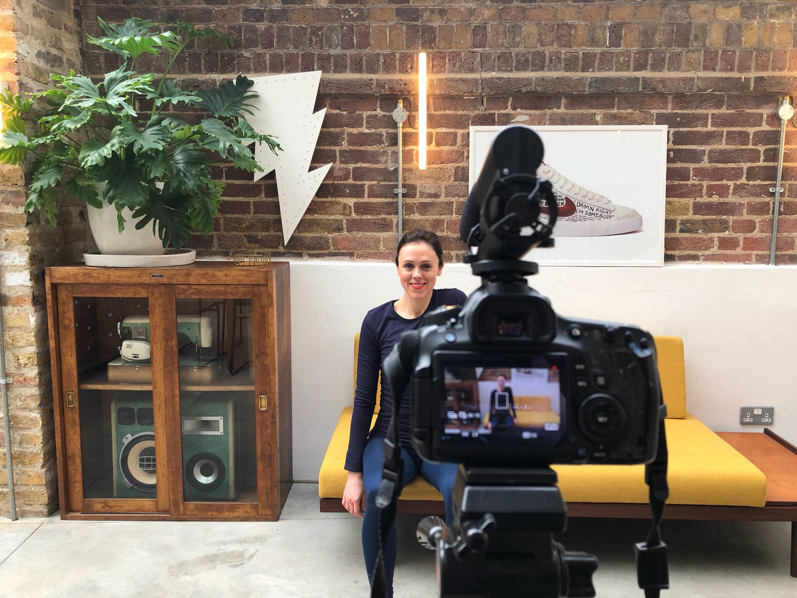 Pilates at your desk filming: behind the scenes -