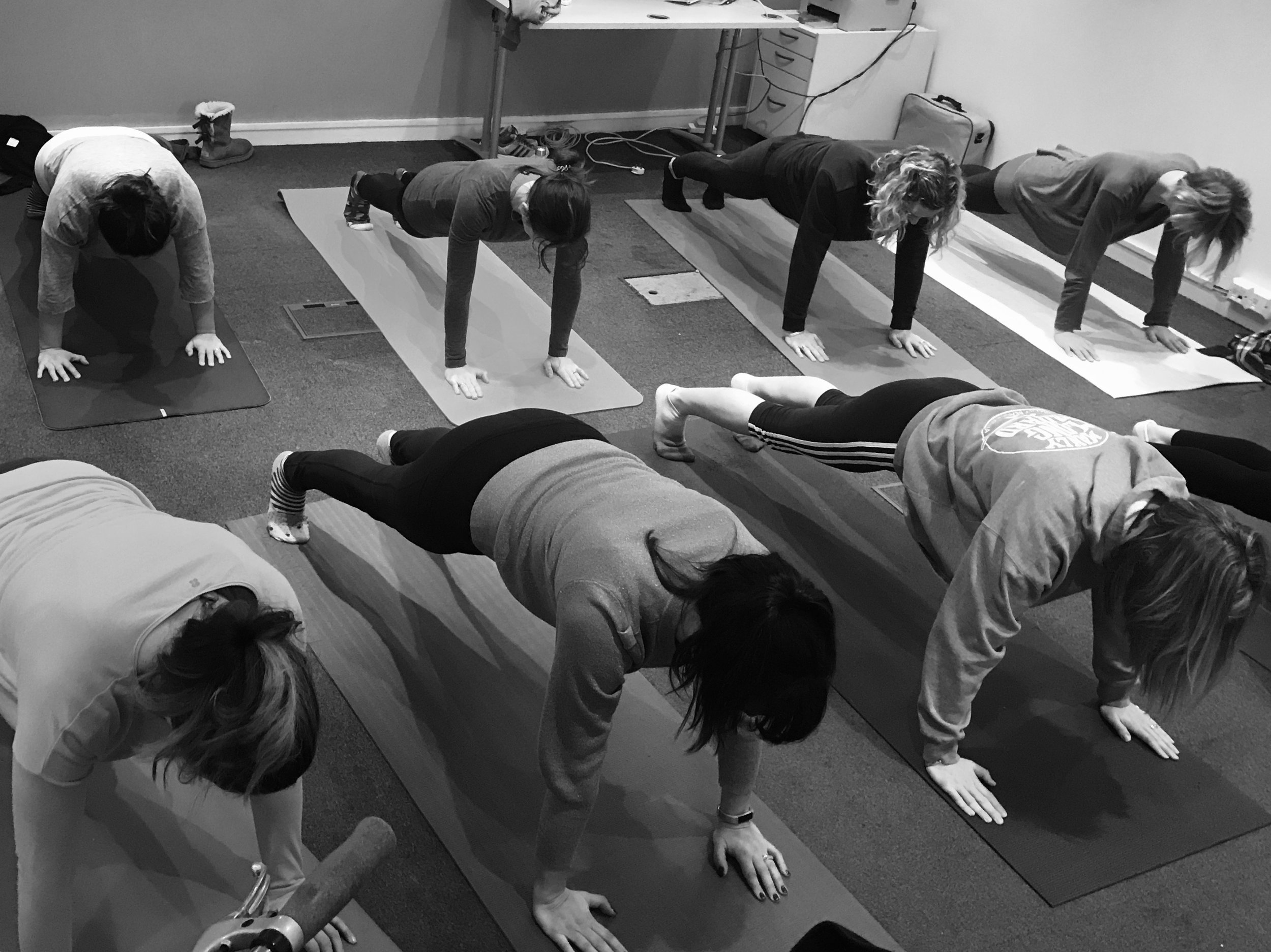Planety Plank for this lovely team in Earlsfield. Yes, we offer weekly mat classes too!