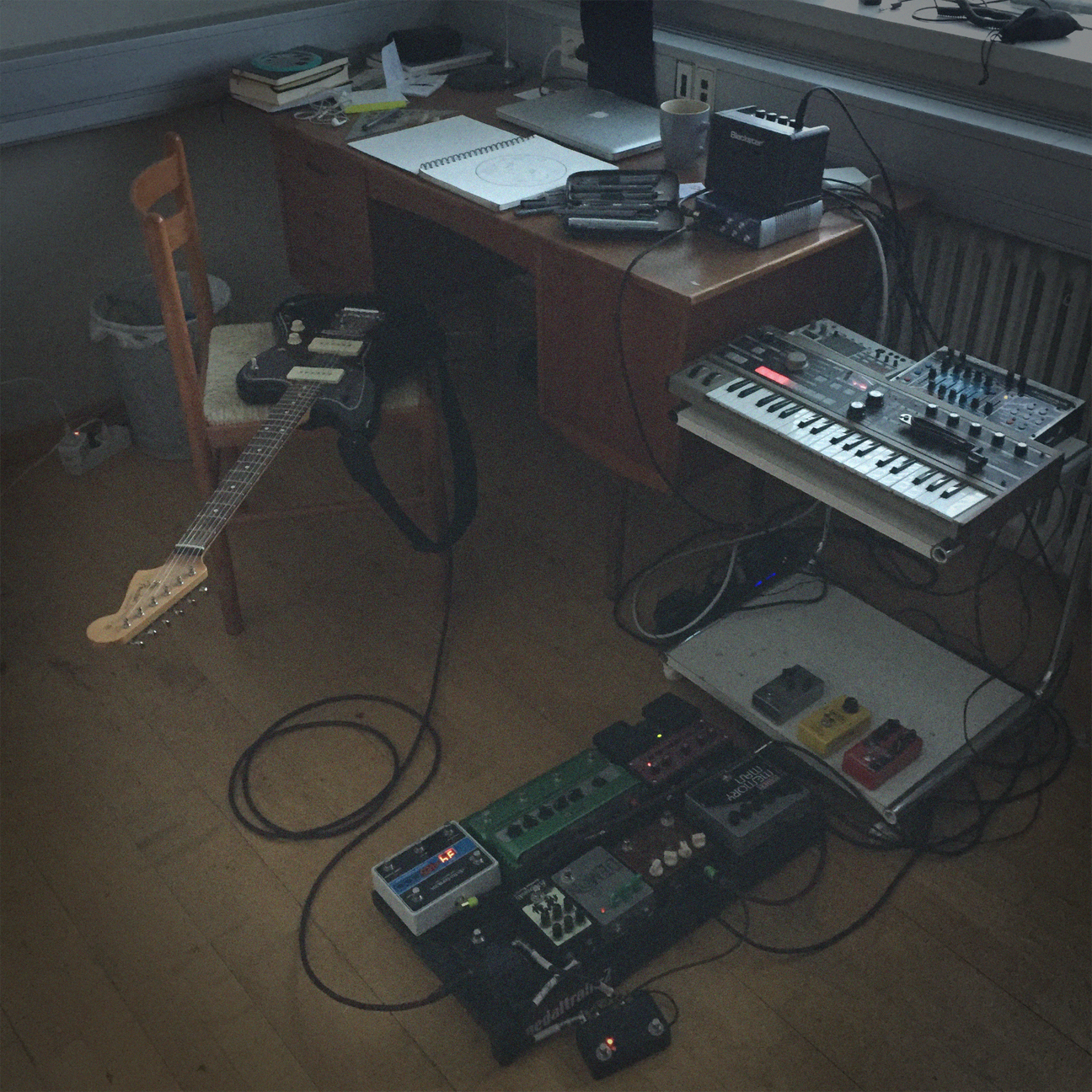 My studio space at the SIM Residency in Reykjavik, Iceland