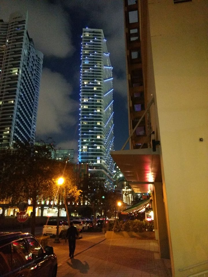 View from the front of the Intercontinental Hotel.