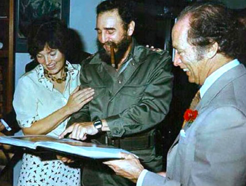 """Fidel, your arms are so strong!"""