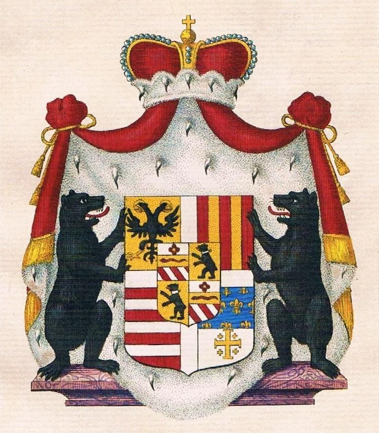 Princely arms of the Orsini Gravina line
