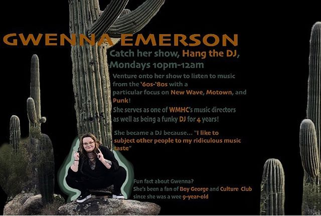 Subjecting other people to our music tastes is how we roll.. check out Gwenna's show Monday nights! 🧡 🌵