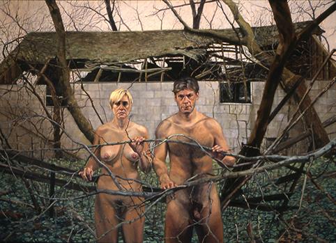 """Nakedness on the Journey 50x70"""" 1998"""