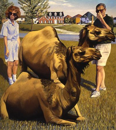 """Camels 53x58"""" 1993"""
