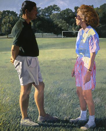 "Suburban Conversation 66x54"" 1992"