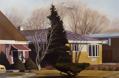 "Airplane Over the Subdivision 16x24"" 1987"