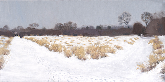 "February 4 Lincoln Marsh 10x20"" 2014 (sold)"