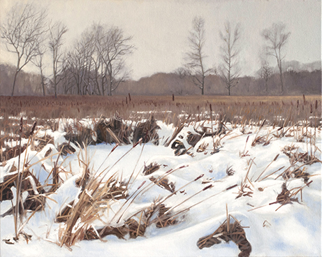 "Feb 5 Lincoln Marsh 16x20"" 2014 (sold)"
