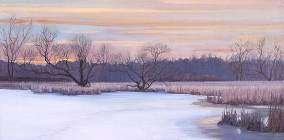 "March 18 Lincoln Marsh 10x20"" 2014 (sold)"