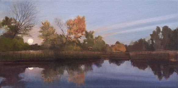 "October 8 Lincoln Marsh 10x20"" 2014 (sold)"