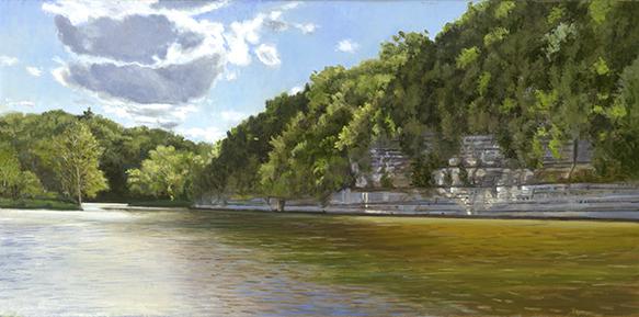 "Fox River Bluffs Near Blake's Landing 12x24"" 2017 (sold)"