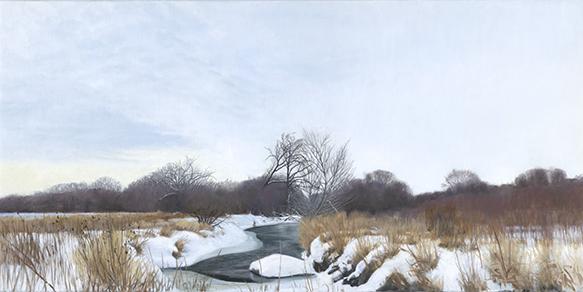"Snow on Ferson Creek, Feb. 13, 18x36"" _ 2018 (sold)"