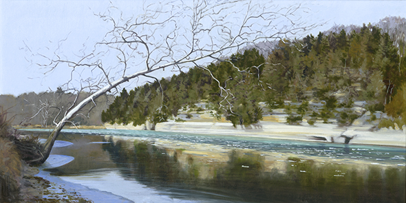 "Early Ice, Dec. 14, 15x30"" _ 2017  SOLD"