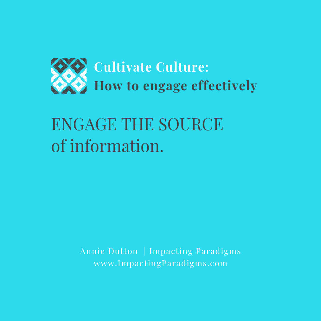 - Organizations that create unnecessary layers to get to the owner who is the source prevent collaboration and impede trust. When people can go to the source, efficiencies are gained, trust increases, and miscommunications decrease. This means a better quality in the products and services due to less risk associated with inconsistencies.