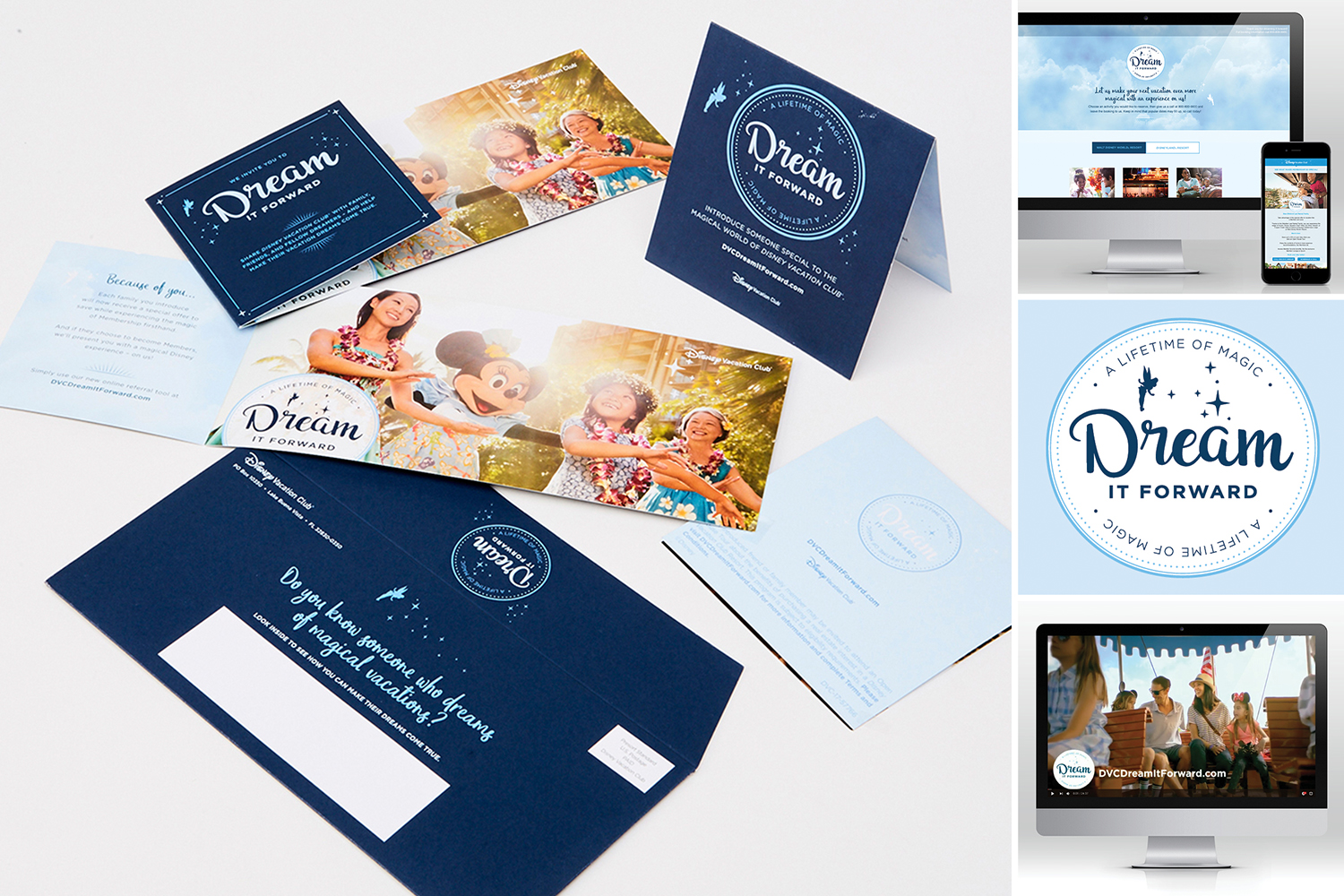 Because members receive a lot of direct mail from Disney Vacation Club, we needed to give these pieces a new look, feel and voice to help them stand out.