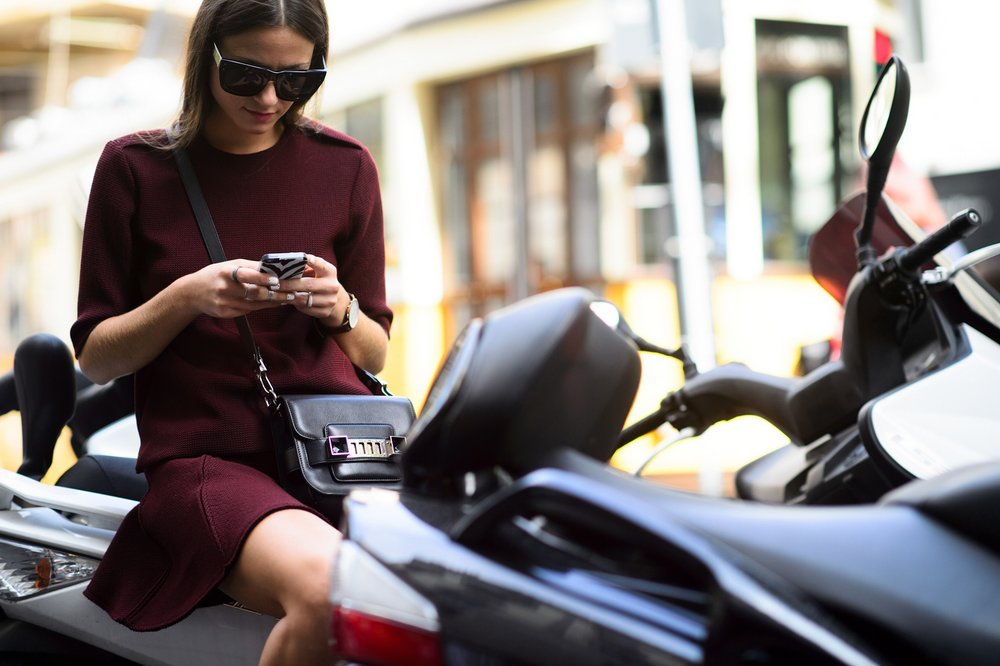 Milan Fashion Week, Spring 2015, photographed by Adam Katz Sinding (for W Mag)
