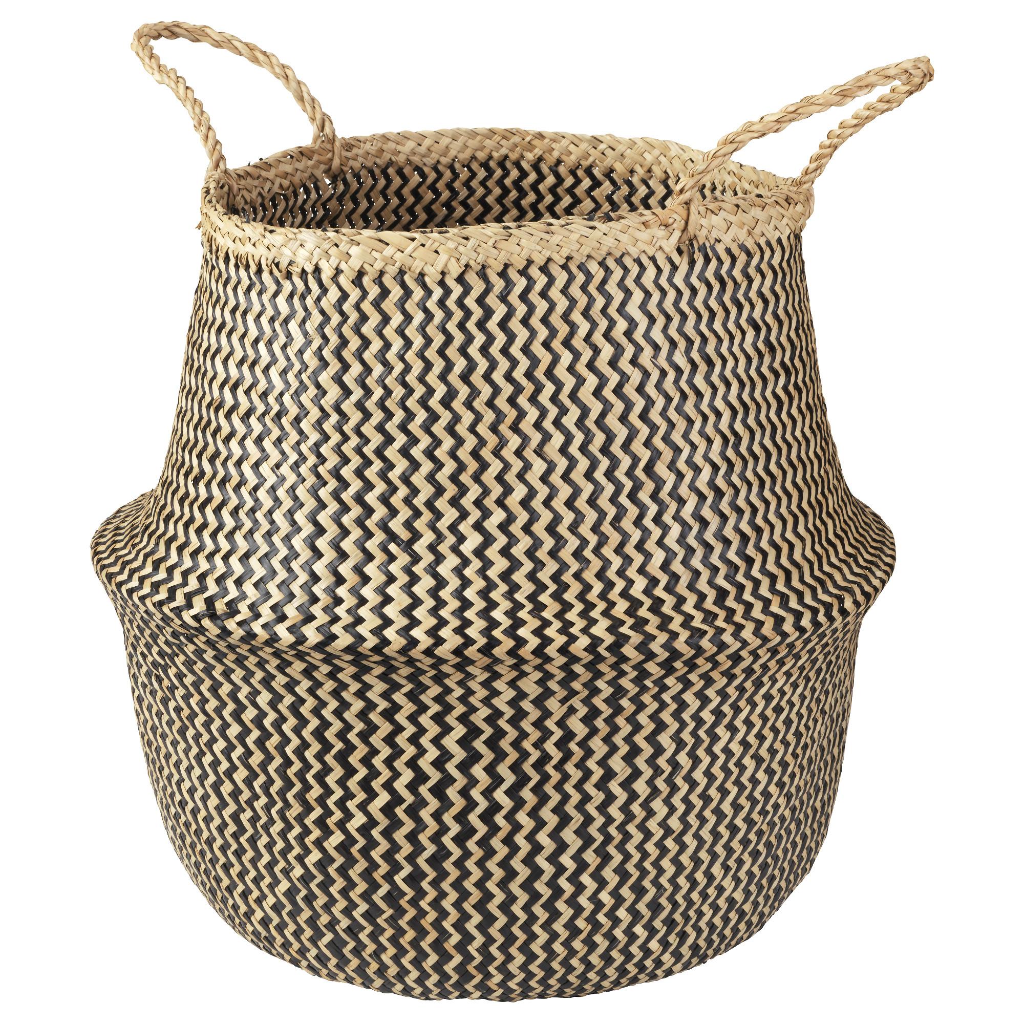 FlÅDIS basket - Seagrass, Black, $19.99