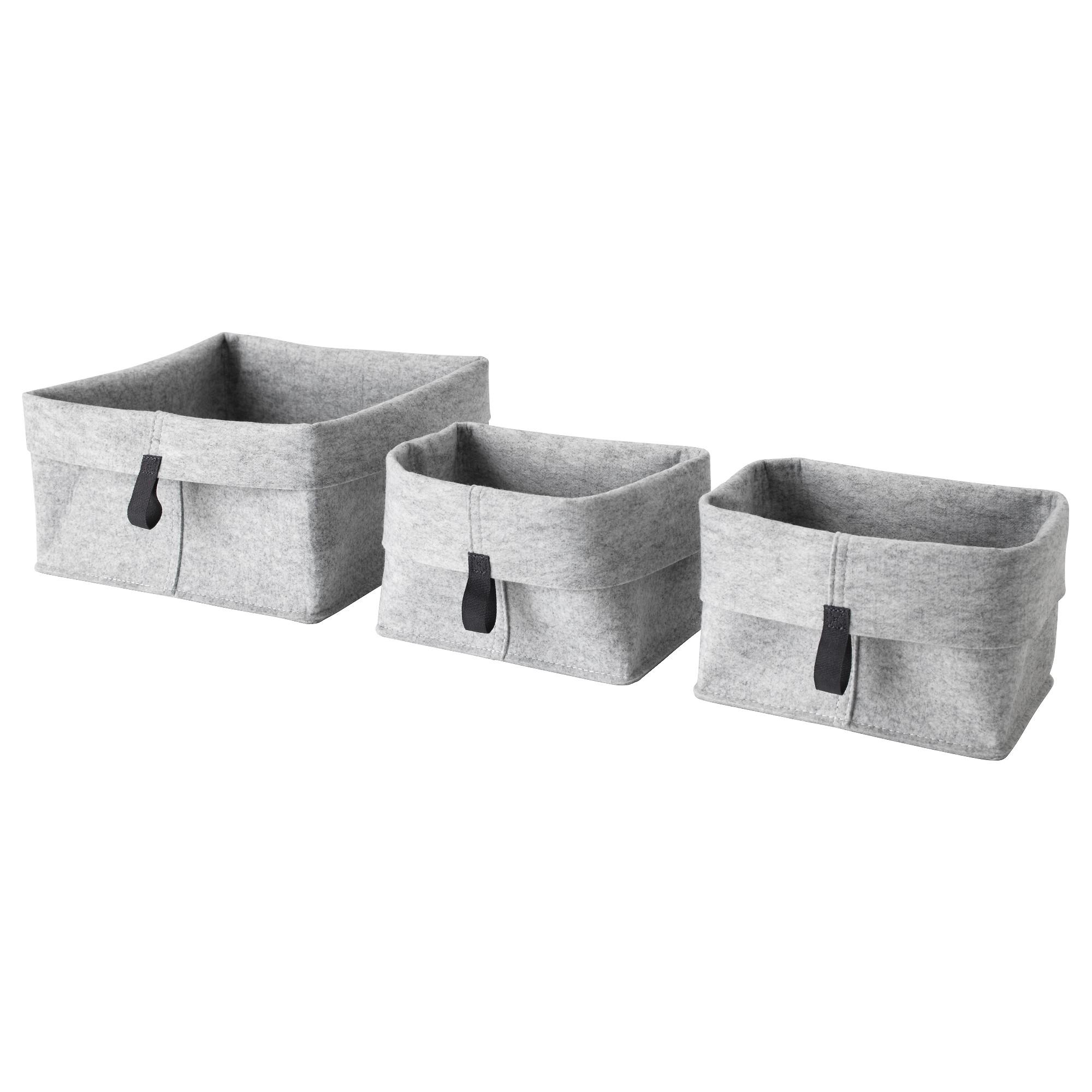 raggisar basket - Set of 3, gray, $4.99