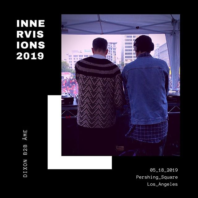 05.18.19 🔊🔊🔊   one of the greatest days and experiences of my life (swipe, swipe, swipe!!) 🤯🤯🤯 @jaydouzi    @innervisions_official @_dixon_ @ame_innervisions @trikkmusic    #innervisions #techno #deephouse #pershingsquare #ameinnervisions #djdixon #dixoninnervisions #trikkmusic