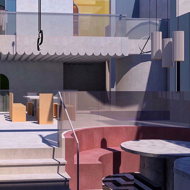 one step closer to the finish line 🏁 • • • • • #rendering #interiordesign #archidaily #3drendering #interiorarchitecture #loftdesign #ihavethisthingwithcolor #interiorlove #primarycolors