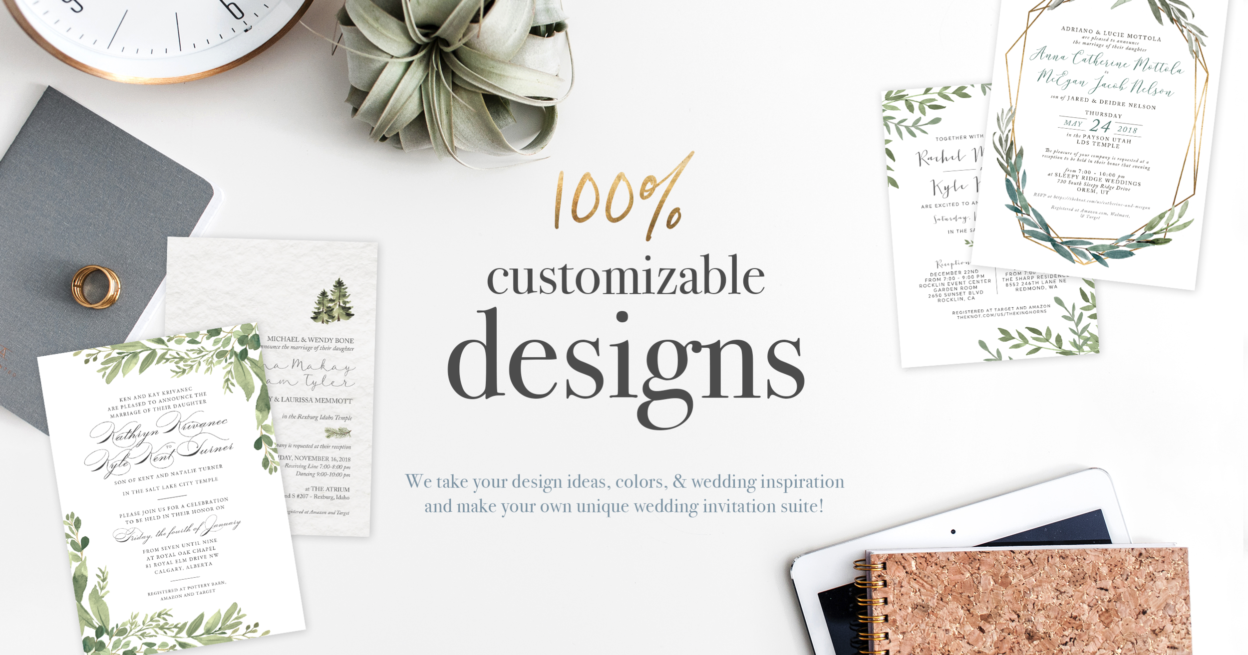 Custom Wedding Invites Landing Page Anthology Print