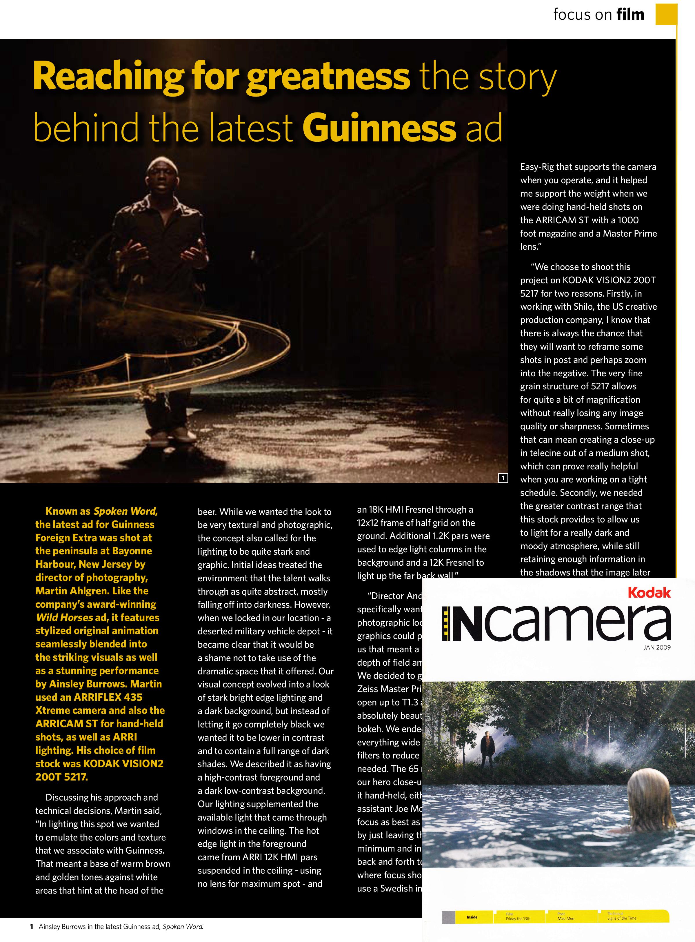 Kodak InCamera Magazine - Jan 2009