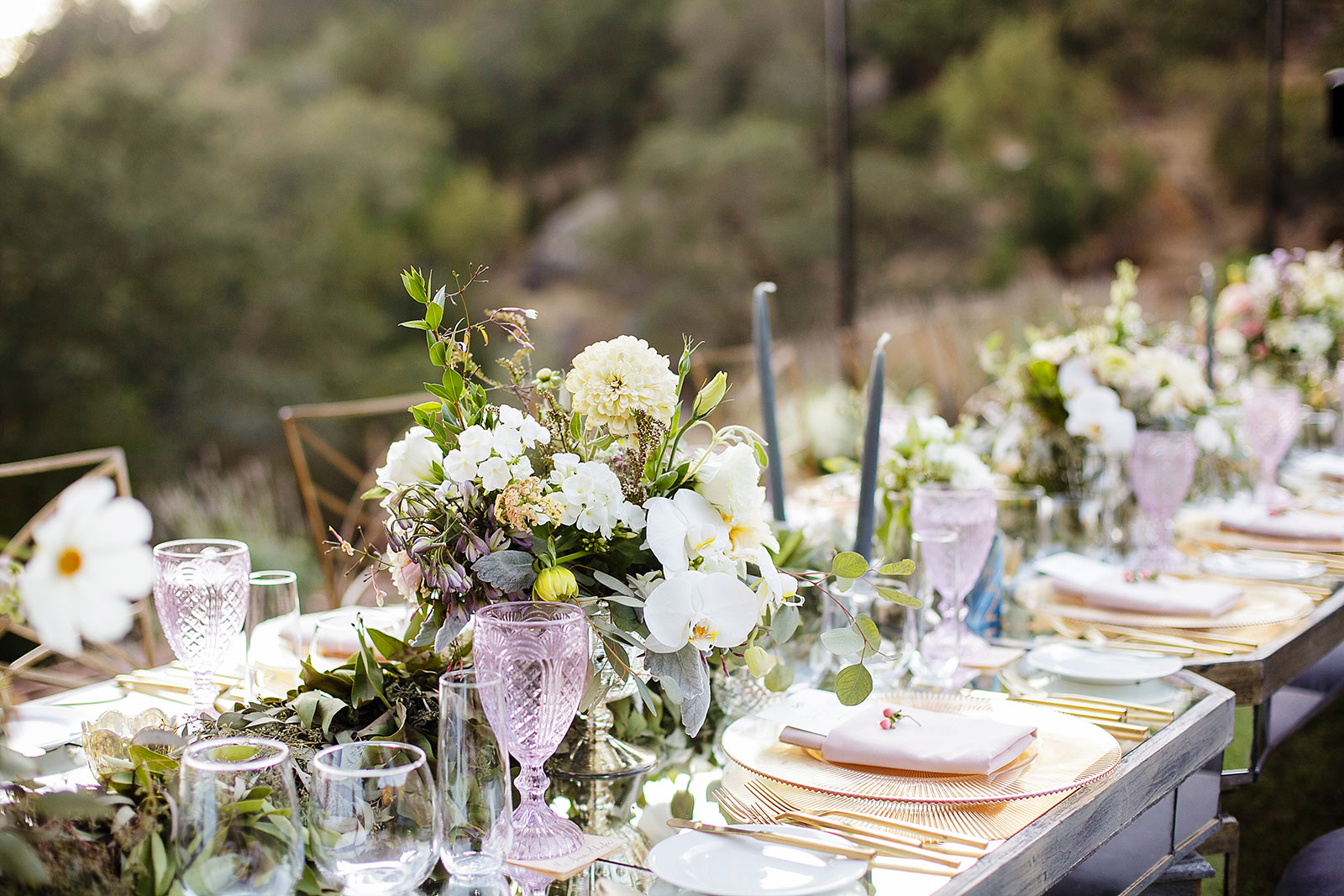 Elegant Wedding Tablescape Napa
