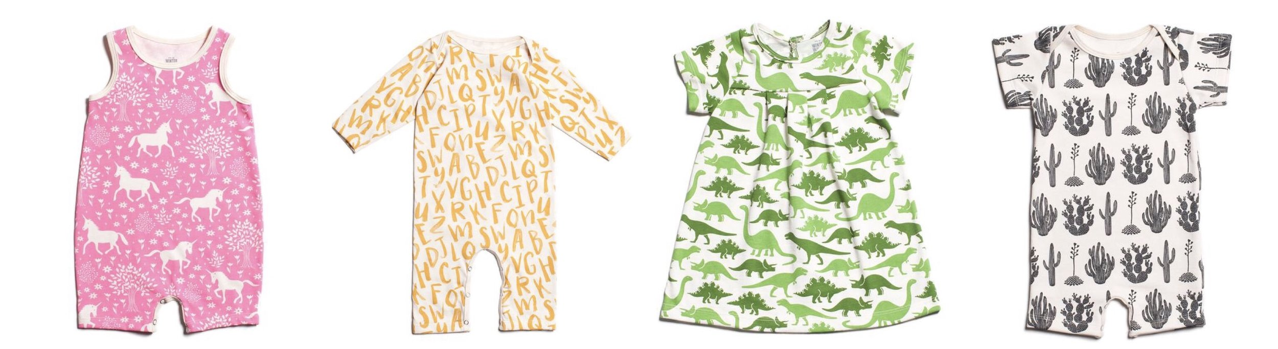Winter Water Factory baby rompers and dresses
