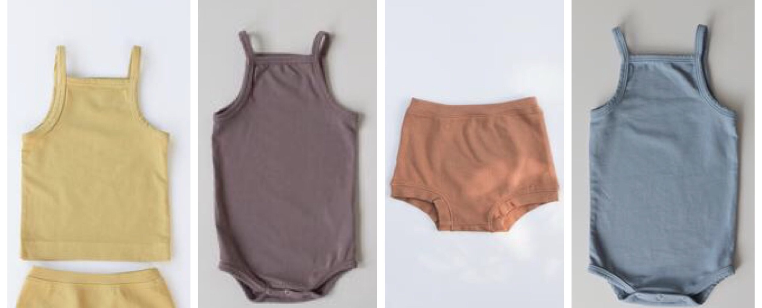 ARQ organic baby tanks, bodysuits and bloomers