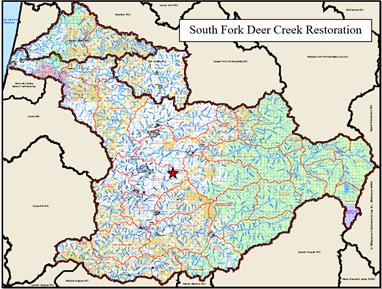 South Fork Deer Creek Map
